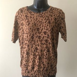 H & M Animal Print Sweater size S NWOT